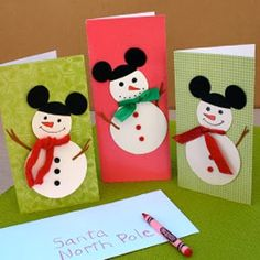Para niños: Tarjetas de navidad para niños manualidades con su sobre