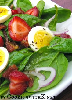 Cooking with K   Southern Kitchen Happenings: Strawberry Bacon Spinach Salad