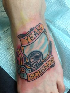 """""""Dope nerdy girly Breaking Bad tattoo."""" I seriously love this. Only traditional-style tattoo I'd get."""