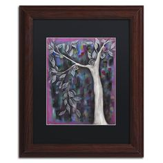 """Trademark Art 'Zofia' by Abril Andrade Framed Graphic Art Matte Color: Black, Size: 20"""" H x 16"""" W x 0.5"""" D"""
