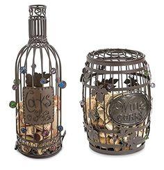 #Vinho & #Acessórios ☆ Porta Rolhas de Metal, #Arte de Metal, Garrafa e Barril ☆