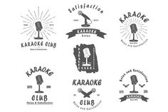 Karaoke club  retro emlembs by tai11 on Creative Market