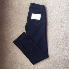 LOFT Straight Leg Jeans dark rinse. Got for Christmas and never wore! The back tag is still on the jeans. Classic color and fit. LOFT Jeans Straight Leg