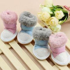 New Dog Shoes Warm Winter Dot Waterproof Boots Cute Pet Shoes Small Dogs and Cats Chihuahua Pitbull Poodle