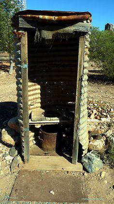 Miner's Dunny by Outside Toilet, Outdoor Toilet, Minions, Land Of Oz, Western Australia, Deco, Homesteading, Architecture, Places