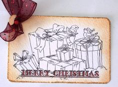 Whimsical Christmas Presents Gift Tag by wildabouttags on Etsy, $4.50