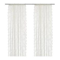 I absolutely looove these for my partition curtains, but won't be worth it if Amelia snags them lol.  $14.99 ALVINE SPETS Sheer curtains, 1 pair - IKEA