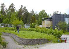 Foiben pieni puutarha on kaikkien yhteisessä käytössä.