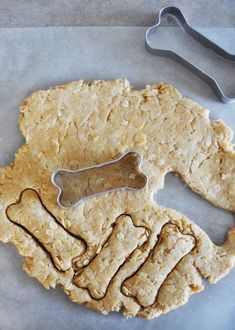 Homemade peanut butter dog biscuits -