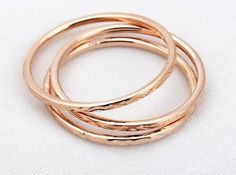 Promise Ring Rose Gold Plated 3 Rings, USD14.99 Before Discount, FREE Shipping, FREE Returns