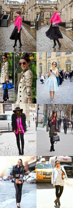 Looks das semanas de moda. Fashion Weeks. Estilos Street Style. Blogger. Blog de moda. www.sabrinadalmolin.com