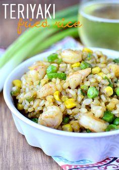 Teriyaki Fried Rice (20 Minute Recipe!) - Iowa Girl Eats