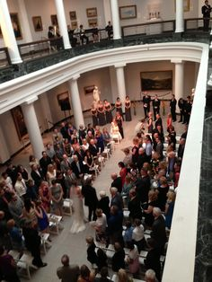 University of Michigan Museum of Art wedding ceremony coordinated by TwoFoot Creative Michigan Wedding Venues, University Of Michigan, Art Museum, Wedding Ceremony, Dolores Park, Weddings, Creative, Museum Of Art, Wedding