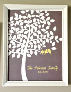 customizable tree art...pick which colors you want for your bedroom/bathroom