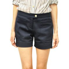Tory Burch Callie cotton shorts ($219) ❤ liked on Polyvore