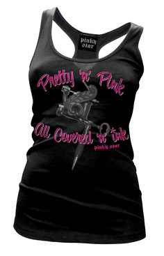 www.inkedshop.com Womens Pretty in Pink Tank By Pinky Star