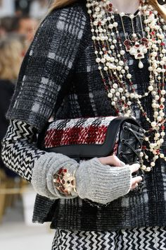 Chanel Fall 2016 Ready-to-Wear Fashion Show Details: The genius of Karl Lagerfeld and the design team at Chanel. Mix. Of. Pattern. Wow!