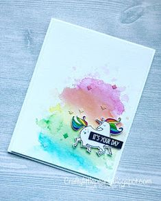 Stampin' Up! Myths and Magic Watercolor Unicorn Card and Sneak Peek