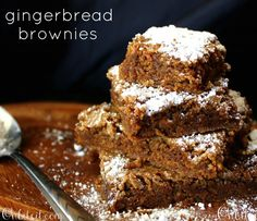Gingerbread Brownies! turned out great - made a lemon sauce to serve over them instead of powered sugar
