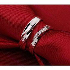 Bague de fiancailles en d'argent S925 diamant mode femme