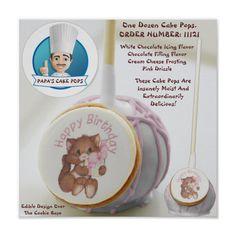 Enjoy Zazzle's amazing cake pops. White Chocolate Icing, Chocolate Filling, Chocolate Flavors, Happy Birthday Kitten, Kitten Cake, Flavored Cream Cheeses, Cream Cheese Frosting, Amazing Cakes, Cake Pops