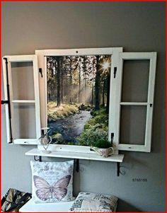 Faux Window, Diy Casa, Deco Originale, Cool Ideas, Diy Ideas, Decor Ideas, Craft Ideas, Window Frames, Window Frame Ideas