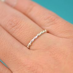Silver Twist Ring Bridesmaid Ring Maid of by TheJewelryGirlsPlace Bridesmaid Rings, Wedding Jewelry, Wedding Rings, Braided Ring, Maid Of Honour Gifts, Twist Ring, Thumb Rings, Stackable Rings, Silver Rings