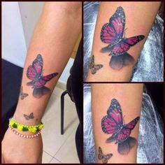 Tattoo 3D butterfly #Tattoo, #Tattooed, #Tattoos