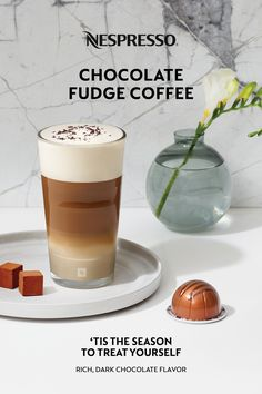 With gift planning in full swing, don't forget to treat yourself! Unwind and indulge with our new Chocolate Fudge coffee for Nespresso Vertuo. 'Tis the season to treat yourself. Nespresso Recipes, Nespresso Usa, Chocolate Fudge, Chocolate Flavors, Chocolate Recipes, Coffee Pods, Coffee Coffee, Coffee Shop, Fudge Flavors