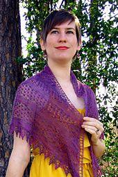 Ravelry: Blackberry Mist Shawl pattern by Cassie Castillo