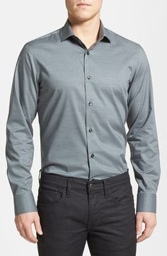 Calibrate Trim Fit Stretch Sport Shirt available at #Nordstrom