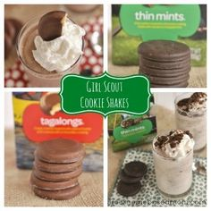 Girl Scout Cookie Milkshakes! Must have for dessert for the girls!