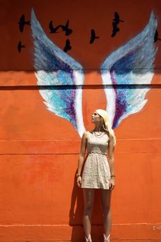 Minna Parikka, Sneakers, Floral, Dress, Fossil watch, Bunny sneakers, angel wings, graffiti, los angeles