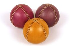 Set of 3 leather juggling balls 75mm diameter Juggling by EmCouros