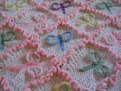 Dragonfly Dreams Crocheted Baby Afghan