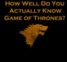 "Quiz: How Well Do You Actually Know ""Game Of Thrones""? ~ I got Cersei (60%). Obviously, I don't know it as well as I think I do!"