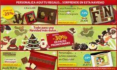 ¡Aprovecha nuestras ofertas y elegir el ideal regalo de Navidad! Chocolates, Monopoly, Bonbon, Messages, Ideas, Gift, Tin Cans, Christmas Presents, Create