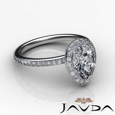 Classic Pear Shape Diamond Engagement Vintage Ring GIA F Color VS2 Platinum 2 Ct | eBay