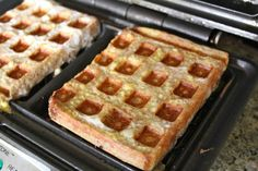 Waffle Iron French Toast: The kids will love turning bread into waffles!