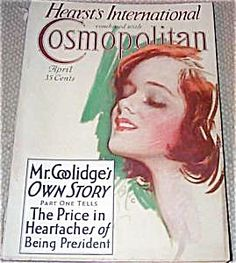 $70 COMPLETE ISSUE OF COSMOPOLITAN MAGAZINE FOR APRIL 1929. COVER BY HARRISON FISHER