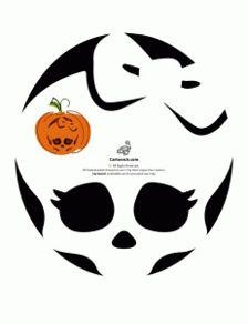 Free Monster High Pumpkin Carving Patterns Holidays Pinterest