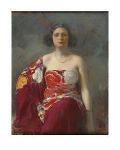 """Ramón Casas i Carbó. """"La Trini"""", 1922. Museu Nacional d'Art de Catalunya."""