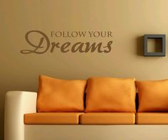 Follow your dreams - Sisustustarra Sofa, Couch, Dreaming Of You, Dreams, Furniture, Home Decor, Settee, Settee, Decoration Home