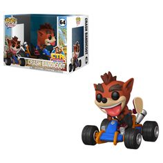 This Crash Bandicoot Crash Team Racing Funko Pop! Ride Vinyl figure is packaged in a window display box and will look epic with any Pop! The dimensions are: Actual product: 5 x x 8 inches Package: 7 x 6 x inches Figurines Funko Pop, Funko Pop Figures, Pop Vinyl Figures, Pop Figurine, Game Crash Bandicoot, Crash Bandicoot Characters, Crash Team Racing, Chewbacca, Wii U