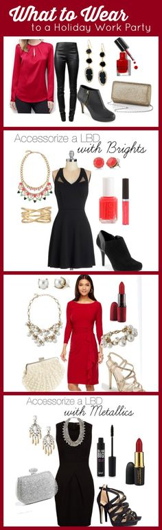 Love these looks! What to Wear to a Company Holiday Party: outfit ideas and shopping links!