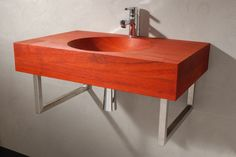Model shown in: Padouk. Size: 700x 440 x 120 mm (lxdxh). Delivery time: standard sizes wooden sinks 3-10 weeks after order. Model #FransHals hass a deep milled cylindrical sink. The milled roundness is visible under the sheet and the sink is milled on both sides. Red glue has been used so that the differences are barely visible. Follow us on Twitter @VWDutchDesign.
