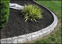 Landscaping Around House, Yard Landscaping, Landscaping Ideas, Concrete Landscape Edging, Fresh Image, Garden Yard Ideas, Stamped Concrete, Landscape Designs, Flower Beds
