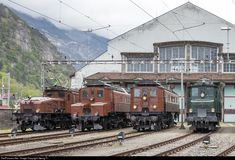 RailPictures.Net Photo: 14253, 14201, 12320, SBB Historic Ce 6/8 II, Ce 6/8 I, Be 4/6, Ae 4/7 at Erstfeld, Switzerland by Georg Trüb
