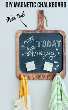 Easy DIY magnetic chalkboard that is perfect for the kitchen