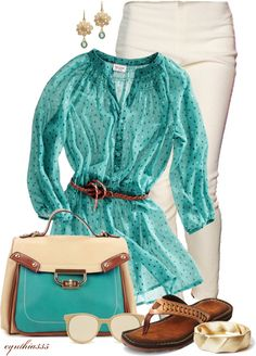 """Turquoise for Spring"" by cynthia335 on Polyvore"